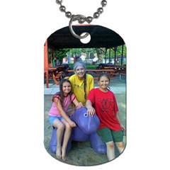 Grandma s Girls By Tuesday Pattison   Dog Tag (two Sides)   2glop5moz20o   Www Artscow Com Front