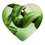 3d animals Snake Heart Ornament (Two Sides)