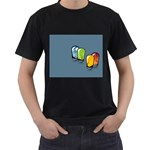 3D Animation Black T-Shirt