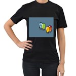 3D Animation Women s Black T-Shirt