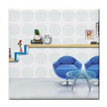 3D Architecture Interior Modeling Tile Coaster