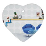 3D Architecture Interior Modeling Ornament (Heart)