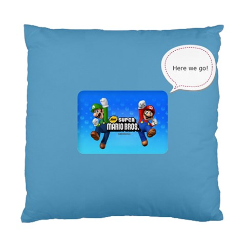 Super Mario Pillow by Cynthia Bencz Front