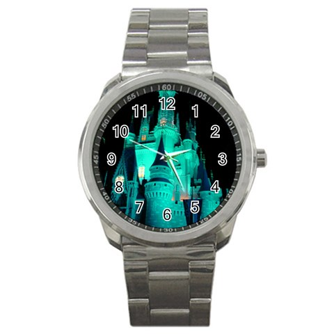 Blue Side Castle Watch By Terri   Sport Metal Watch   Rfsrtecspeyj   Www Artscow Com Front
