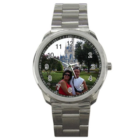 Us Wdw Castle Watch By Terri   Sport Metal Watch   Mh6xn7mpsuo4   Www Artscow Com Front