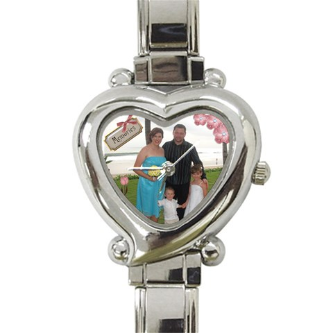 Our Family Watch By Michelle   Heart Italian Charm Watch   Uhxzn4s53djx   Www Artscow Com Front