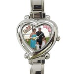 Our Family Watch - Heart Italian Charm Watch
