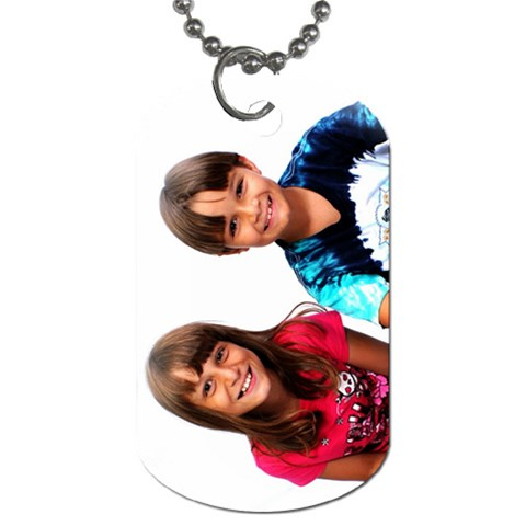 Martina & Skyler Dog Tag By Allison Hoag   Dog Tag (one Side)   4jkxusv5we9f   Www Artscow Com Front
