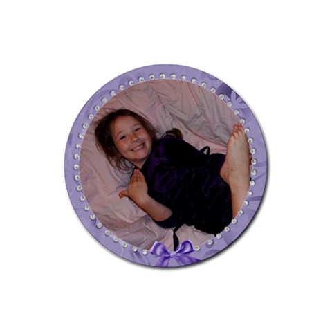 Leandra Round Coaster By Tracy Peterman   Rubber Coaster (round)   3e8duh1qp5wq   Www Artscow Com Front