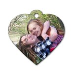 Lexi & Haylee  - Dog Tag Heart (One Side)