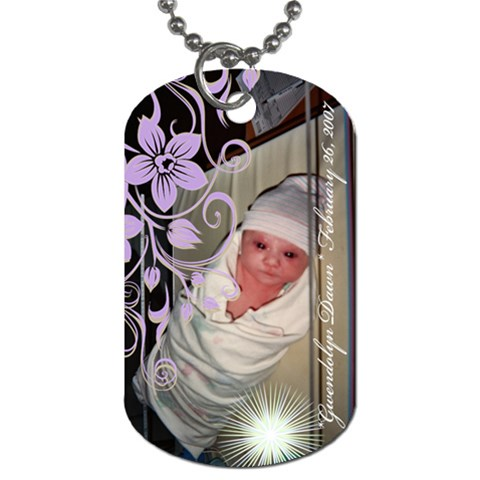 Gwenbaby By Stephany Roach   Dog Tag (one Side)   Y7tbwasaiiv8   Www Artscow Com Front
