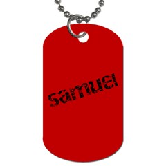 Tkd Samuel By Micaela   Dog Tag (two Sides)   Rcfr4bw7gtu1   Www Artscow Com Back