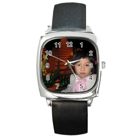 Watch 5 By Natalie   Square Metal Watch   Rg87edb7p9x7   Www Artscow Com Front