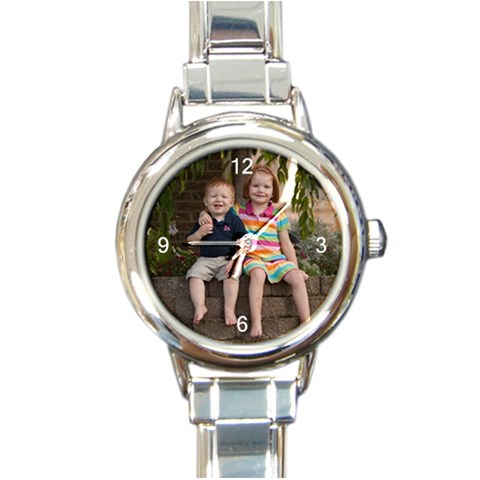 Watch By Amy Drees   Round Italian Charm Watch   5silk2frq6d1   Www Artscow Com Front
