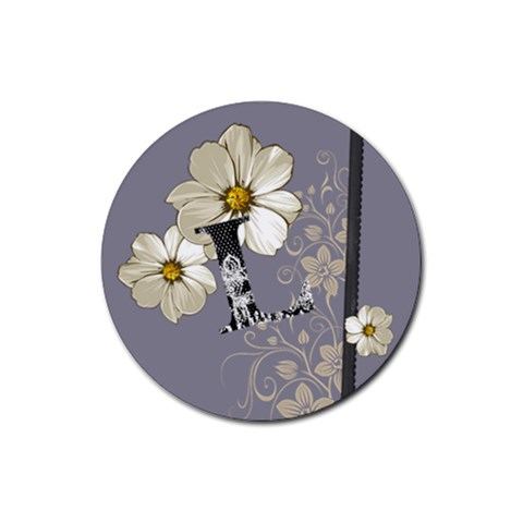 L Coaster By Lindsay Sorce   Rubber Coaster (round)   M9kj7mh3w5fm   Www Artscow Com Front