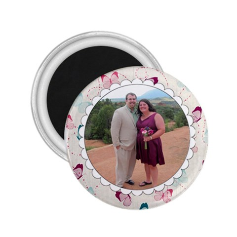 David And Mel At Meghan s Wedding Magnet By Melissa   2 25  Magnet   Qr6av87htt5p   Www Artscow Com Front