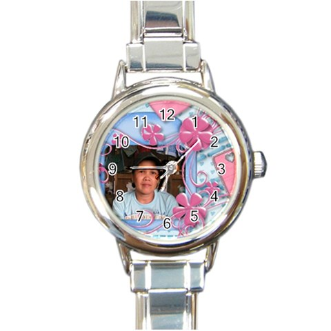 Blue Watch By Ryannec   Round Italian Charm Watch   Odvtbek5ta90   Www Artscow Com Front