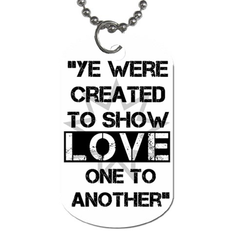 Show Love By Roney   Dog Tag (one Side)   Szc5zaw5mq1l   Www Artscow Com Front