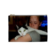 Tasha And Cat By Freda Brodie   Cosmetic Bag (medium)   W29l4wk5ielc   Www Artscow Com Front