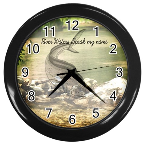 Fisherman Clock By Danielle Christiansen   Wall Clock (black)   Jhon3fo6rsg6   Www Artscow Com Front