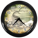 fisherman clock - Wall Clock (Black)