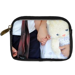 Holding Hands By Becky Reynolds Fehr   Digital Camera Leather Case   9ejeh7vc5p9g   Www Artscow Com Front