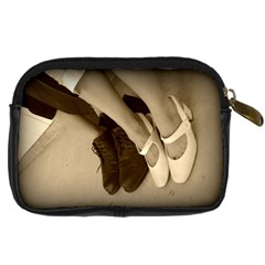 Holding Hands By Becky Reynolds Fehr   Digital Camera Leather Case   9ejeh7vc5p9g   Www Artscow Com Back