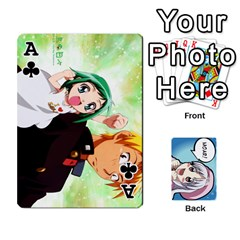 Ace Anime By Brian Samuelson   Playing Cards 54 Designs   Iomrcub27629   Www Artscow Com Front - ClubA