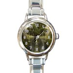Gardens of Babylon Round Italian Charm Watch