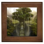 Gardens of Babylon Framed Tile