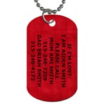 AIDEN INFO TAG - Dog Tag (One Side)