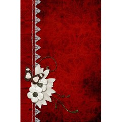 5 5 X 8 5 Notebook In Red  By Cheryl Peacock   5 5  X 8 5  Notebook   Gwqv64ez0plh   Www Artscow Com Front Cover