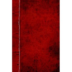 5 5 X 8 5 Notebook In Red  By Cheryl Peacock   5 5  X 8 5  Notebook   Gwqv64ez0plh   Www Artscow Com Back Cover Inside