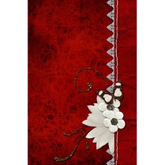 5 5 X 8 5 Notebook In Red  By Cheryl Peacock   5 5  X 8 5  Notebook   Gwqv64ez0plh   Www Artscow Com Back Cover
