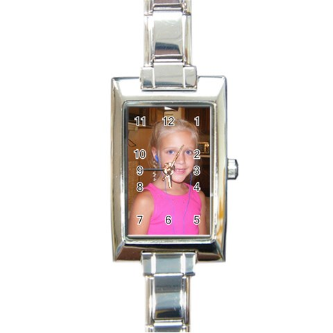 Designer Watch  By Deanna Eissens   Rectangle Italian Charm Watch   Qtmuj8m2p960   Www Artscow Com Front