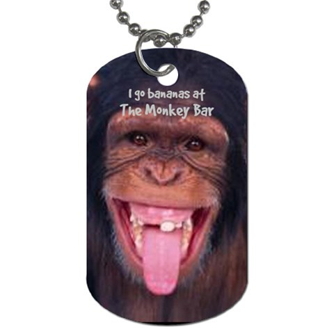 Monkey Bar Tag 36 By Debra Macv   Dog Tag (one Side)   0b9bcip6jhyw   Www Artscow Com Front