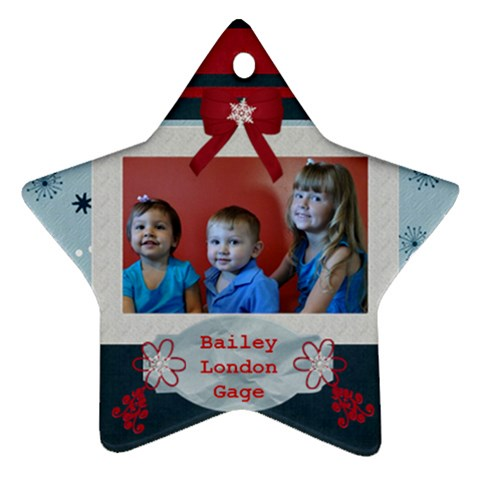 Star Ornament By Christy Fralin   Ornament (star)   Ygxywblf3vs1   Www Artscow Com Front