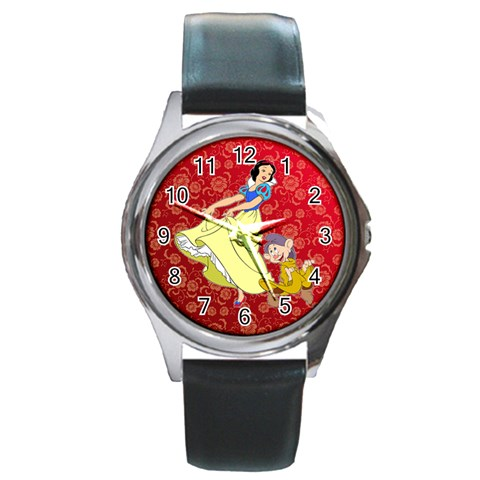 Snow White Watch By Anne Frey   Round Metal Watch   O7t2tzbneppu   Www Artscow Com Front