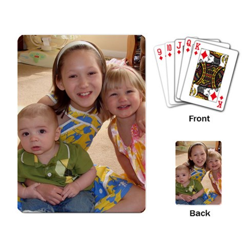 Cousins Playing Cards By Angie   Playing Cards Single Design   4t97la30mpvj   Www Artscow Com Back