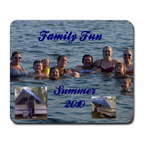 Family Fun 2010 By Renata   Collage Mousepad   Qy8ts9a9y388   Www Artscow Com 9.25 x7.75 Mousepad - 1