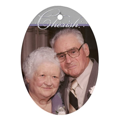 Mom & Dad K Jon s Wedding  By Denise Krbez   Ornament (oval)   K4u93t5h2n3k   Www Artscow Com Front
