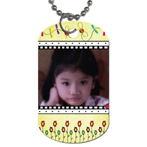Gem By Imee   Dog Tag (one Side)   Dqd57igpi9s5   Www Artscow Com Front