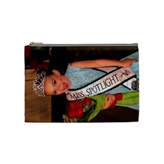 Petite Miss Spotlight 2010 By Alicia Cruz   Cosmetic Bag (medium)   Y4cjiifx892c   Www Artscow Com Front