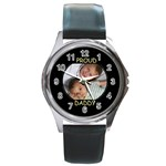 DaddyBdayWatch - Round Metal Watch