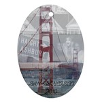 SAN FRAN CHRISTMAS - Ornament (Oval)