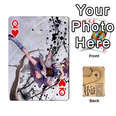 Queen Randomcards By K Kaze   Playing Cards 54 Designs   Bynn6rsti2jj   Www Artscow Com Front - HeartQ