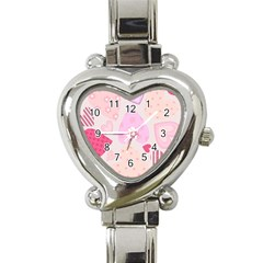 heart shaped ladies wrist watch Heart Italian Charm Watch by rjschneck02A