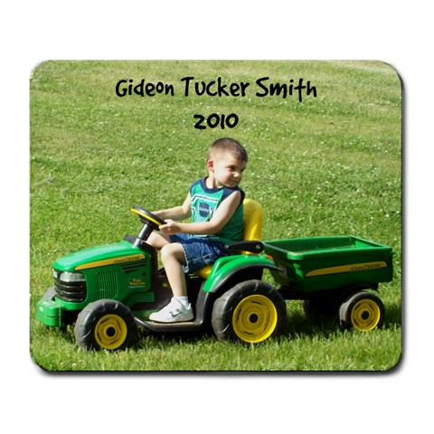 Tucker On Tractor By Lori Smith   Large Mousepad   6o7svpc5pgha   Www Artscow Com Front