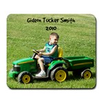 Tucker on Tractor - Large Mousepad