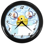 clock for bathroom - Wall Clock (Black)